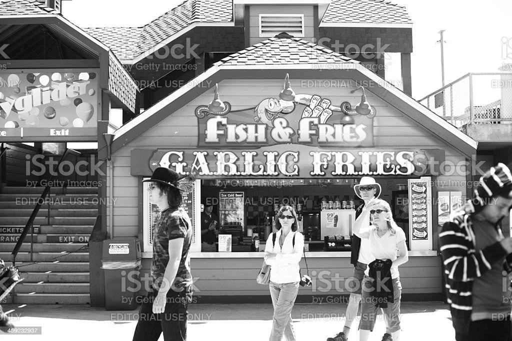 Fish and Fries on the Santa Cruz Boardwalk royalty-free stock photo