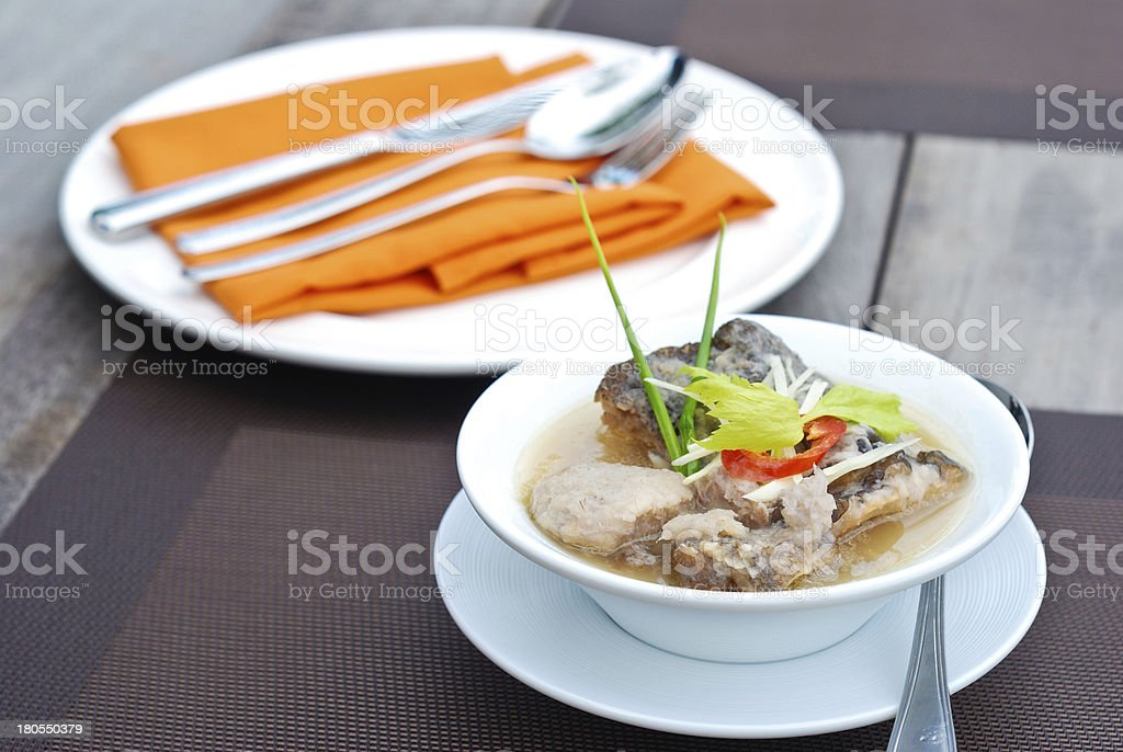 fish and taro soup royalty-free stock photo