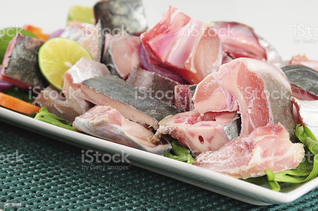 Fish and vegetables. Series, see more... royalty-free stock photo
