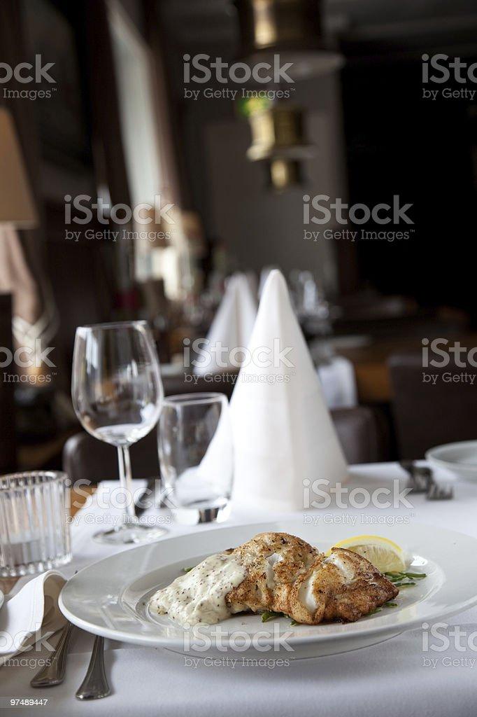 Fish at a restaurant royalty-free stock photo