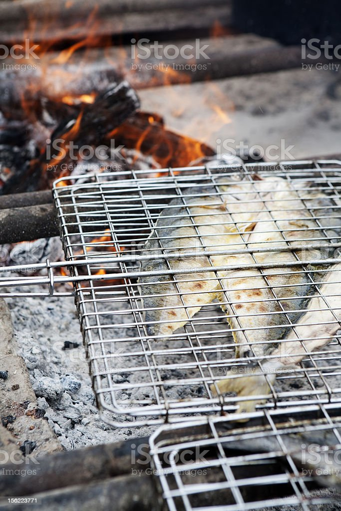 Fish Barbeque royalty-free stock photo