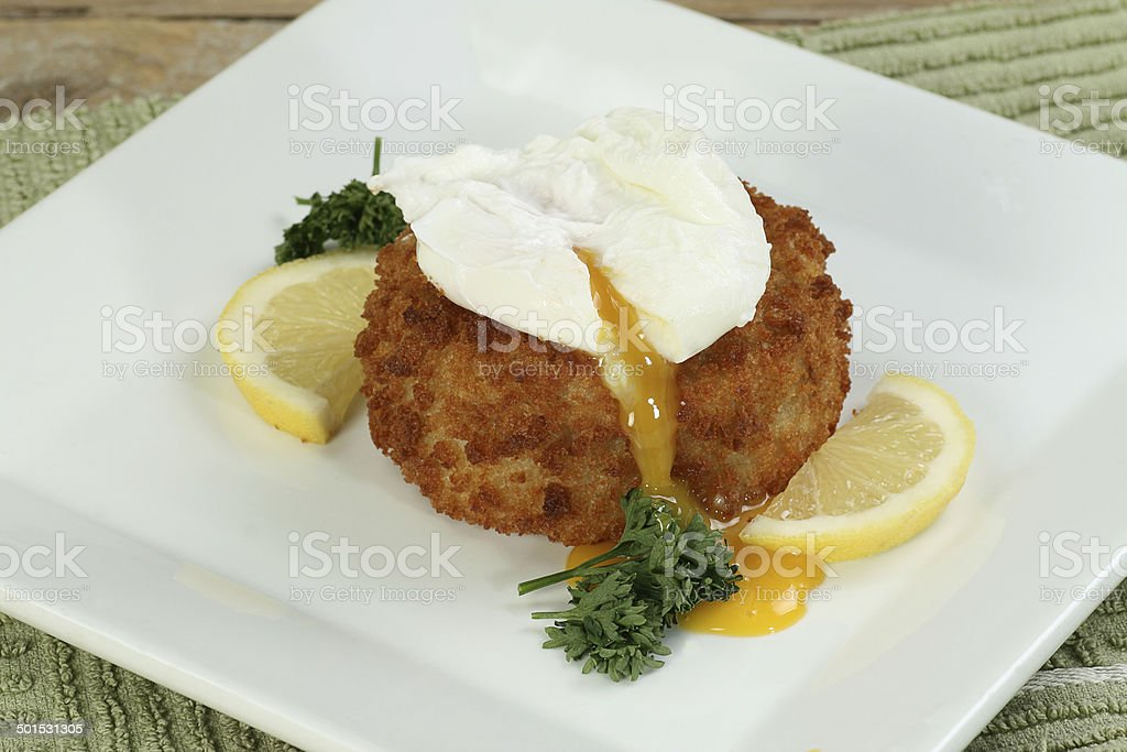 fish cake with egg royalty-free stock photo