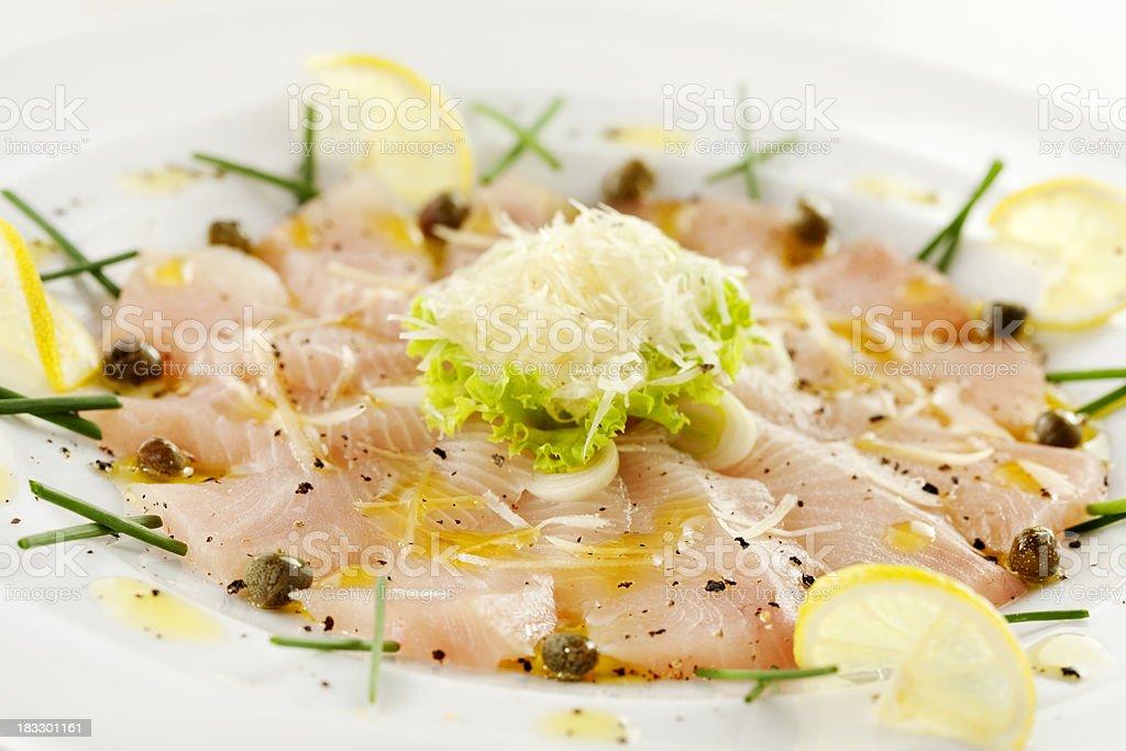Fish Carpaccio stock photo