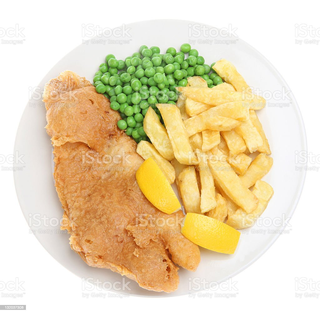 Fish & Chips royalty-free stock photo