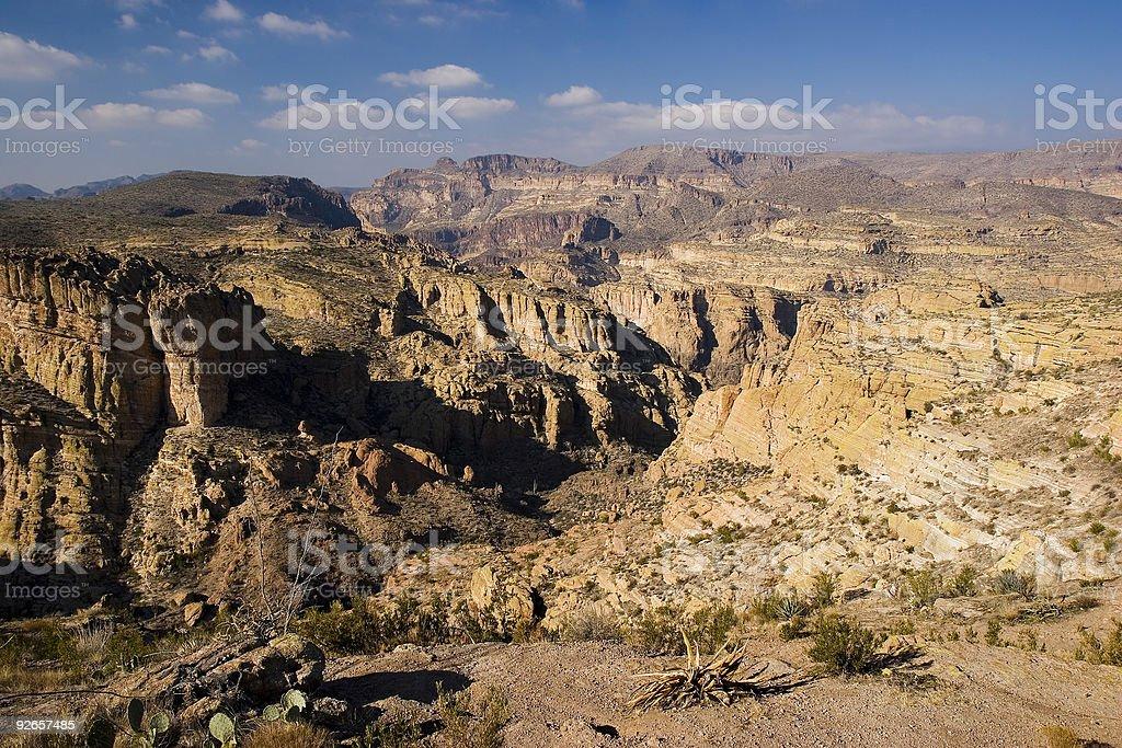 Fish Creek Canyon royalty-free stock photo