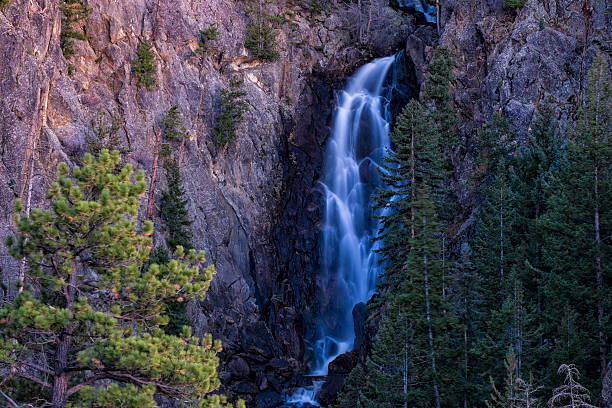 Fish Creek Falls Fish Creek Falls - Scenic landscape with cascading waterfall.  Steamboat Springs, Colorado USA. routt county stock pictures, royalty-free photos & images