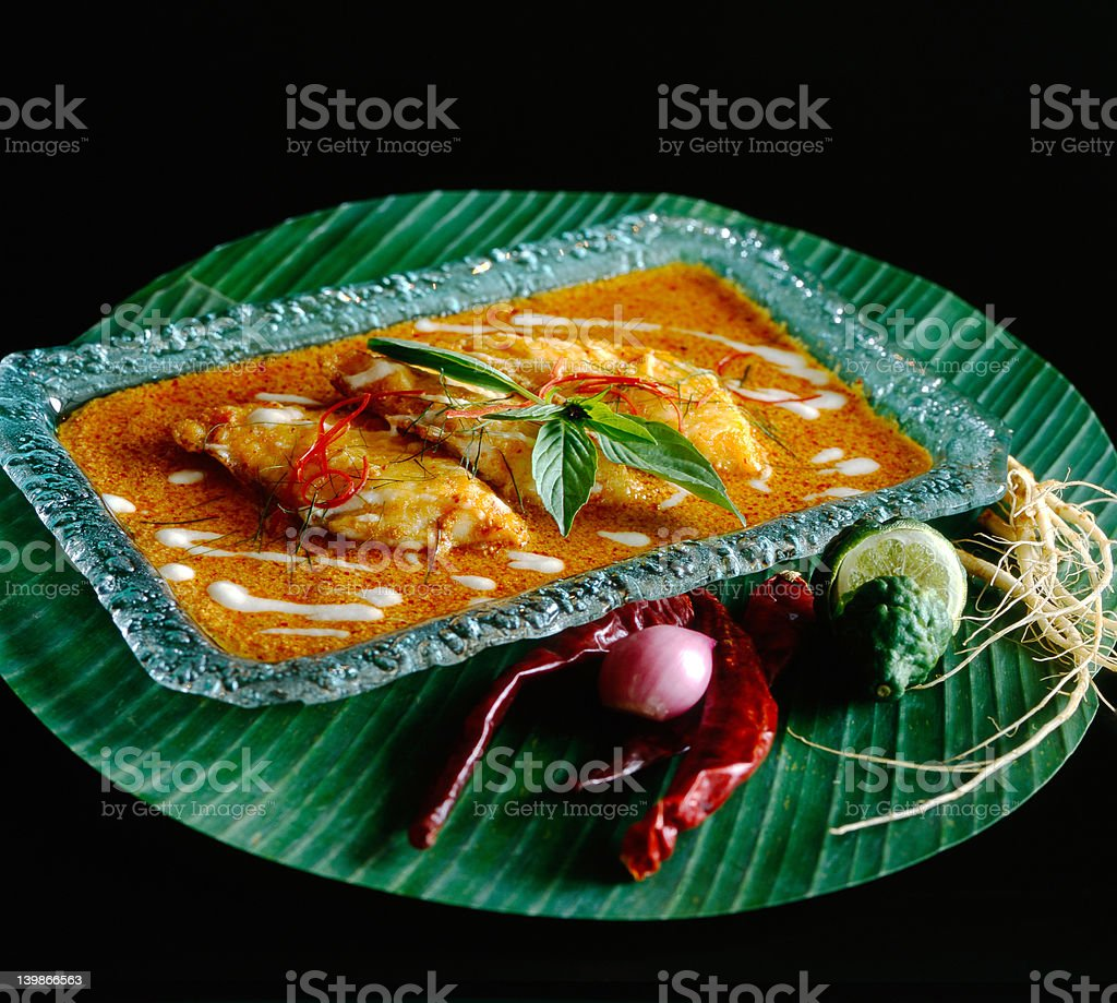 Fish curry royalty-free stock photo
