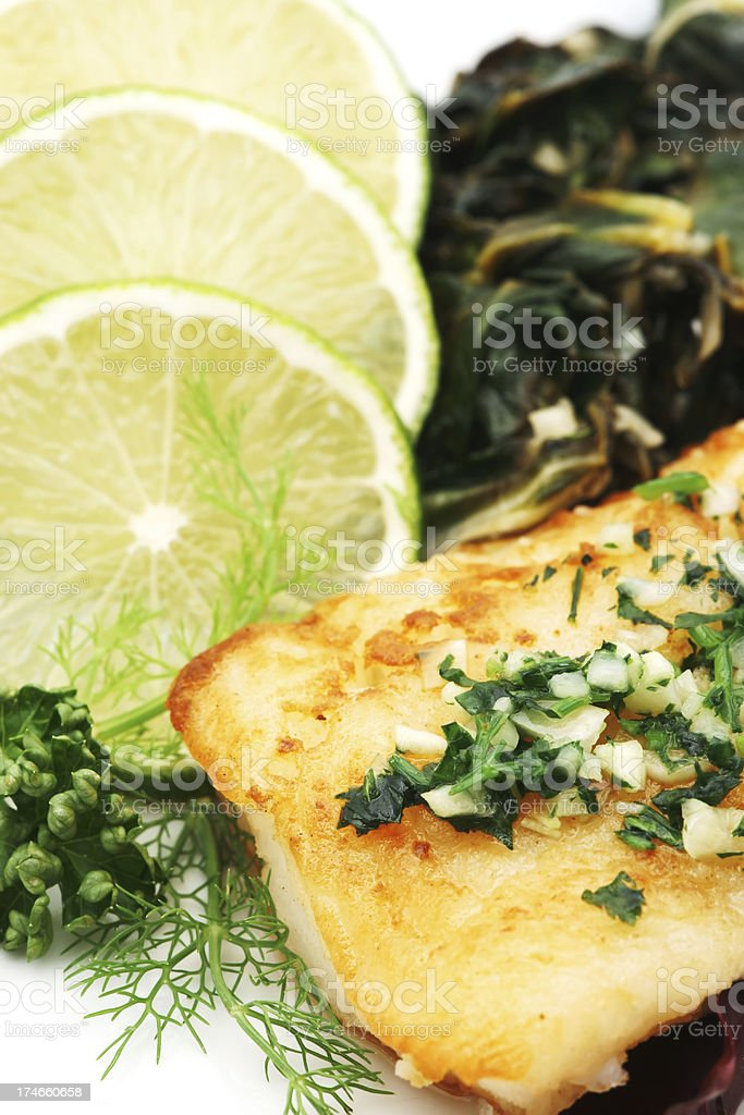 fish dinner royalty-free stock photo