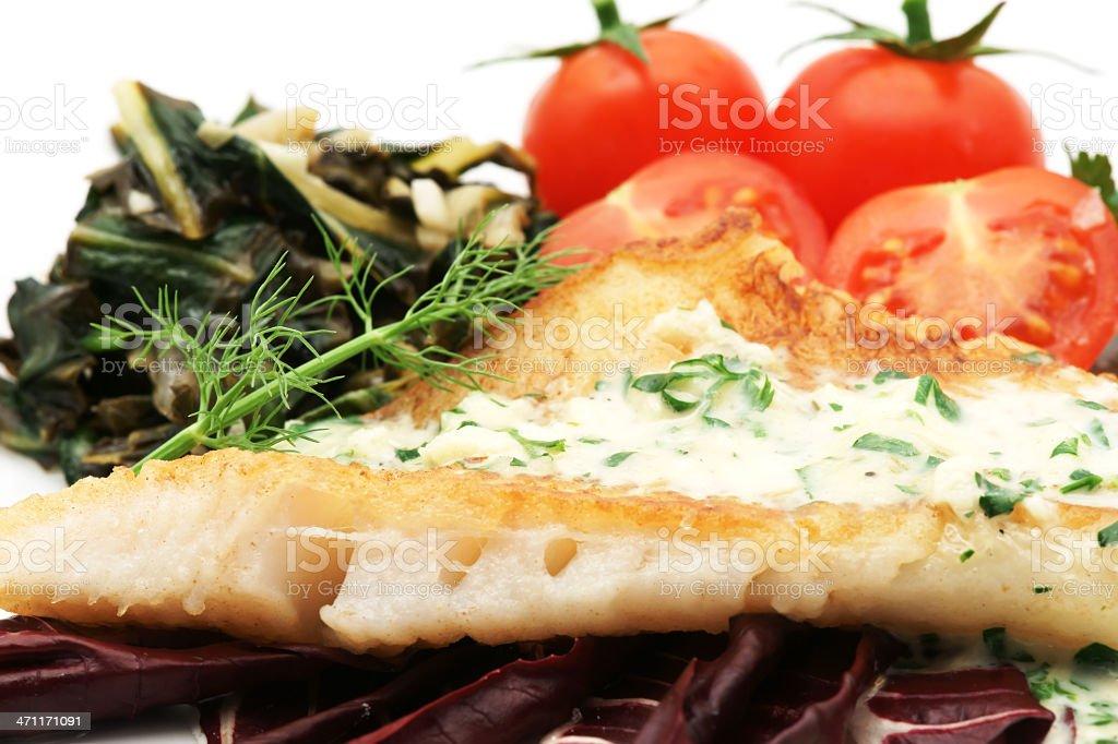 Fish dinner stock photo