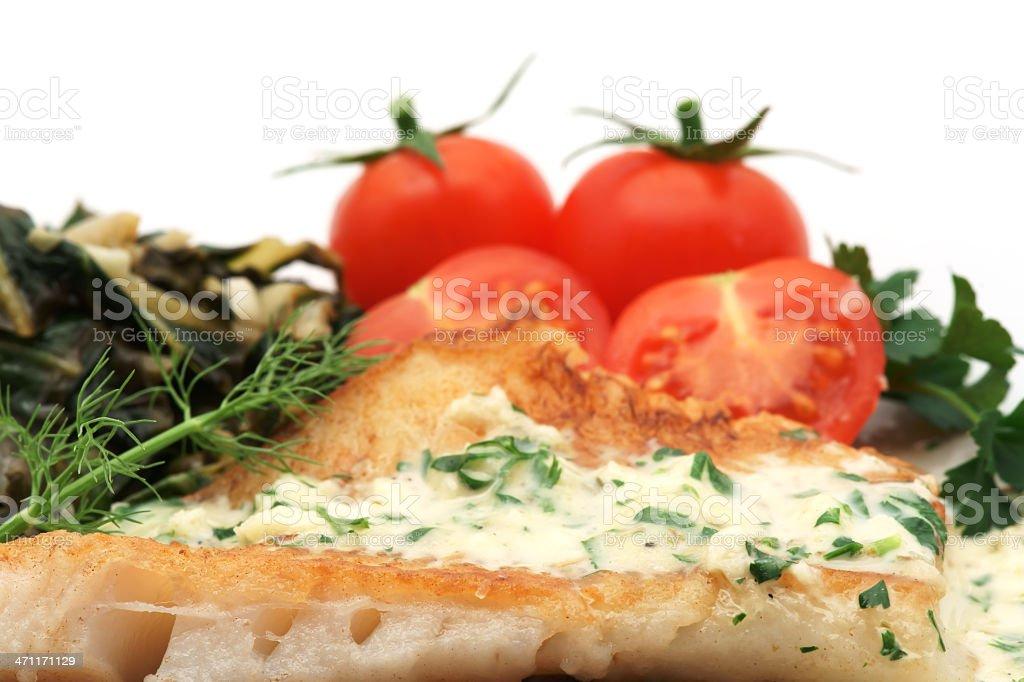 Fish dinner royalty-free stock photo