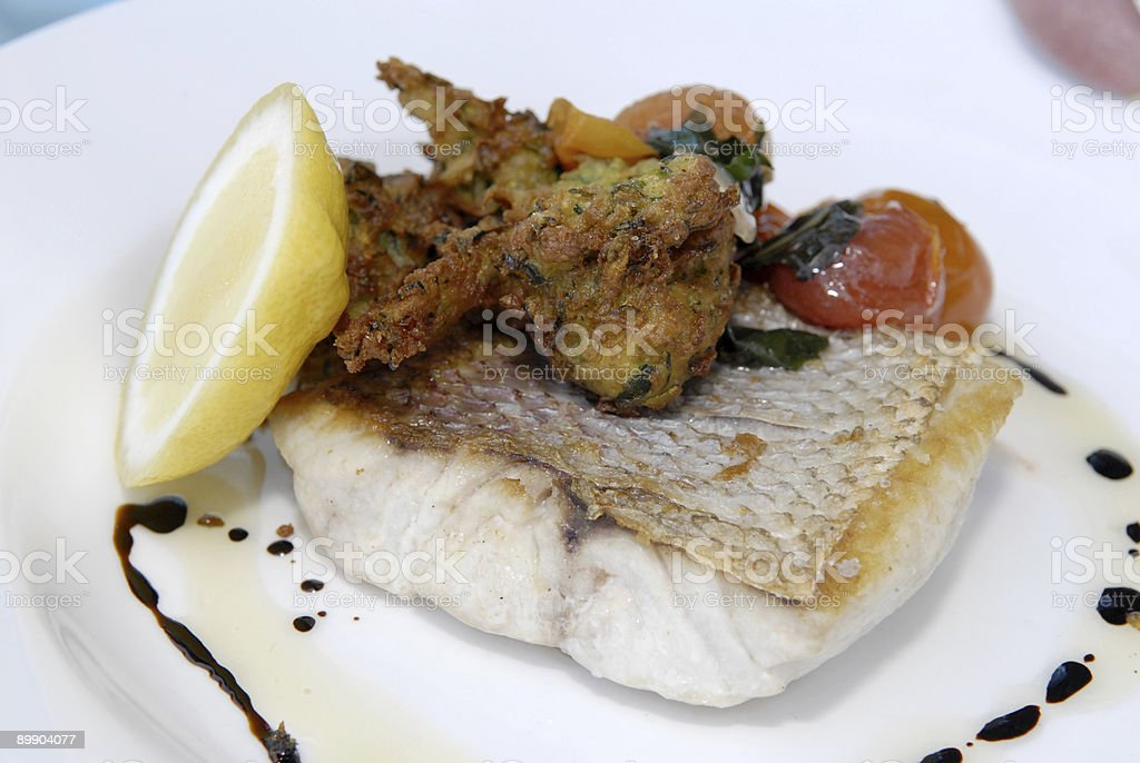 Fish dish 2 royalty free stockfoto