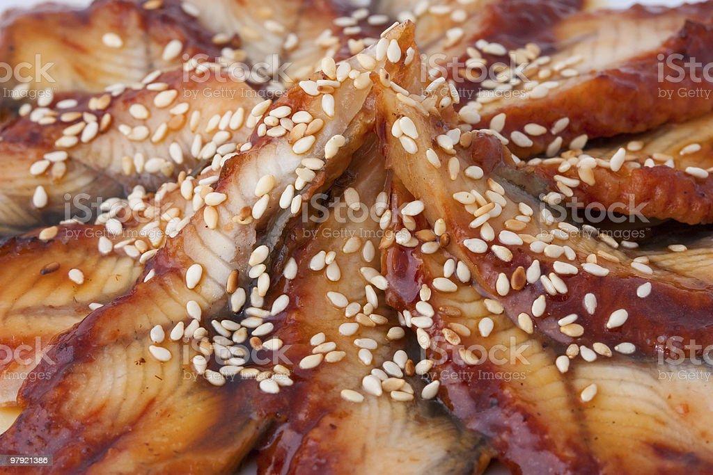 Fish dish, close-up royalty-free stock photo