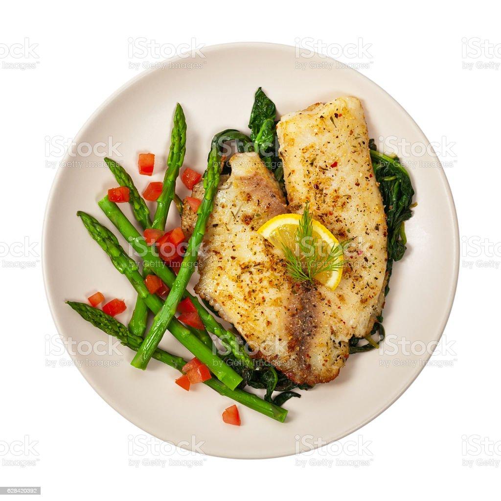 Plato de pescado - foto de stock