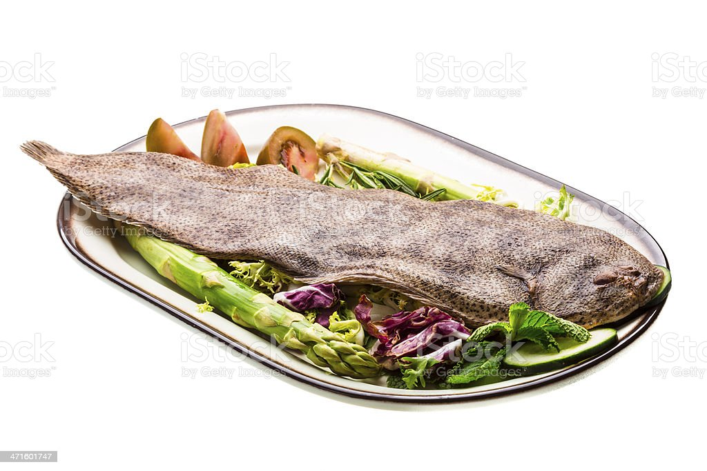 Fish Dover sole royalty-free stock photo