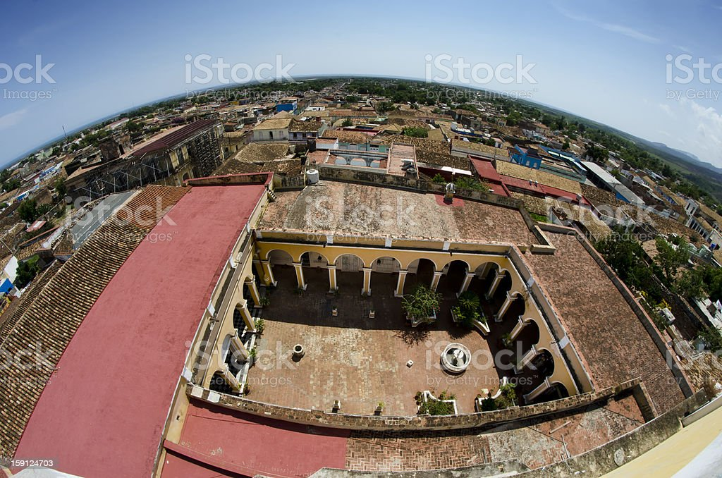 Fish- eye of Trinidad in Cuba stock photo