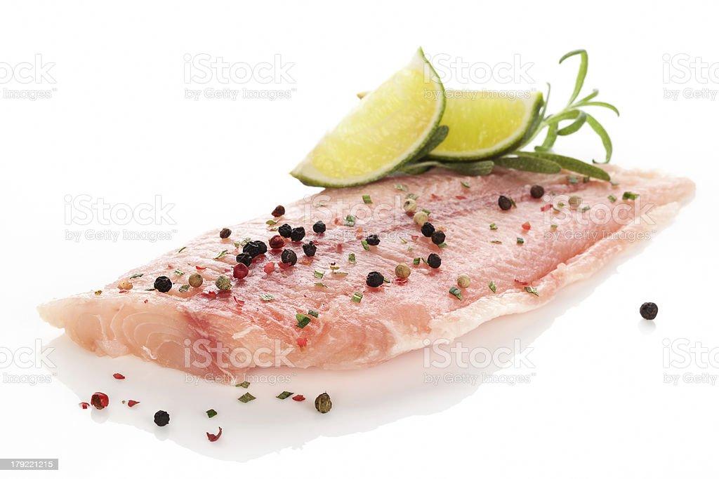 Fish fillet. stock photo