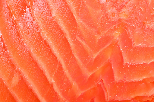 background from red fish fillet