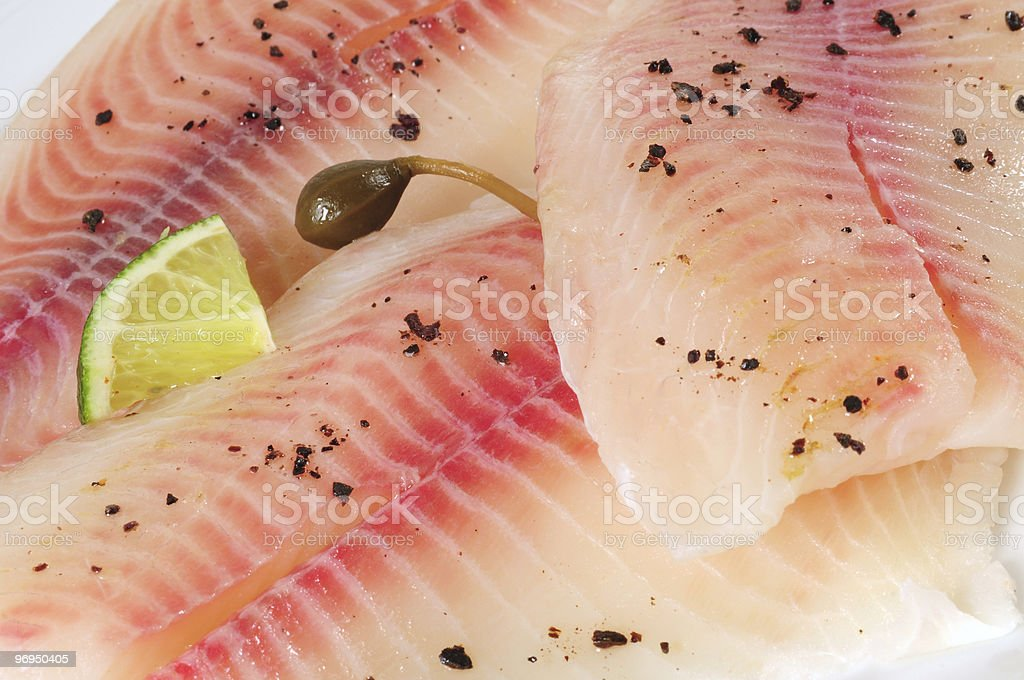 Fish fillet. royalty-free stock photo