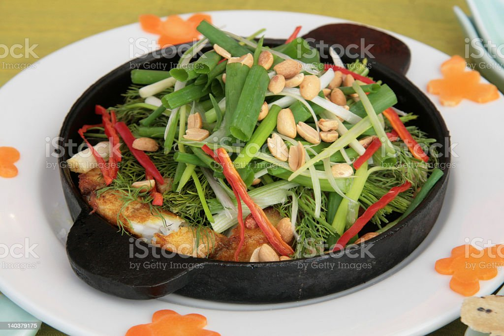 Fish hot plate royalty-free stock photo