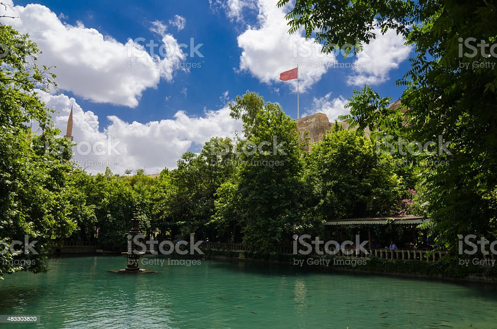 Fish Lake, Urfa, Turkey stock photo