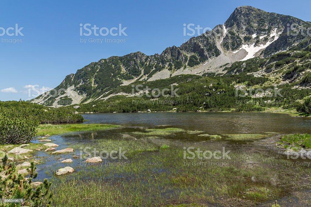 Fish lakes and Sivrya peak, Pirin Mountain Lizenzfreies stock-foto