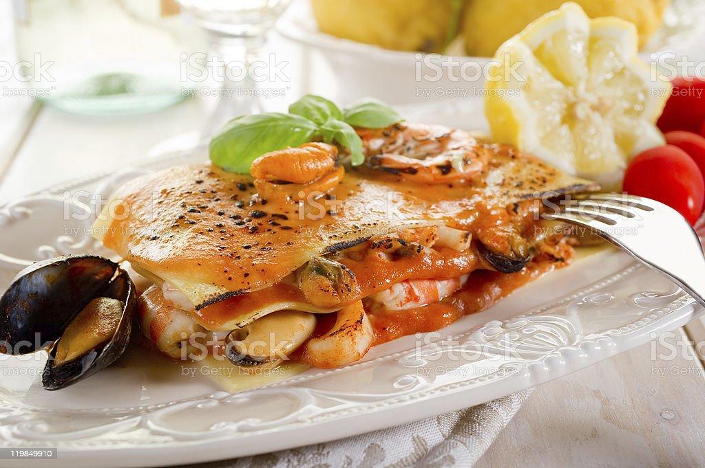 Fisch-Lasagne – Foto