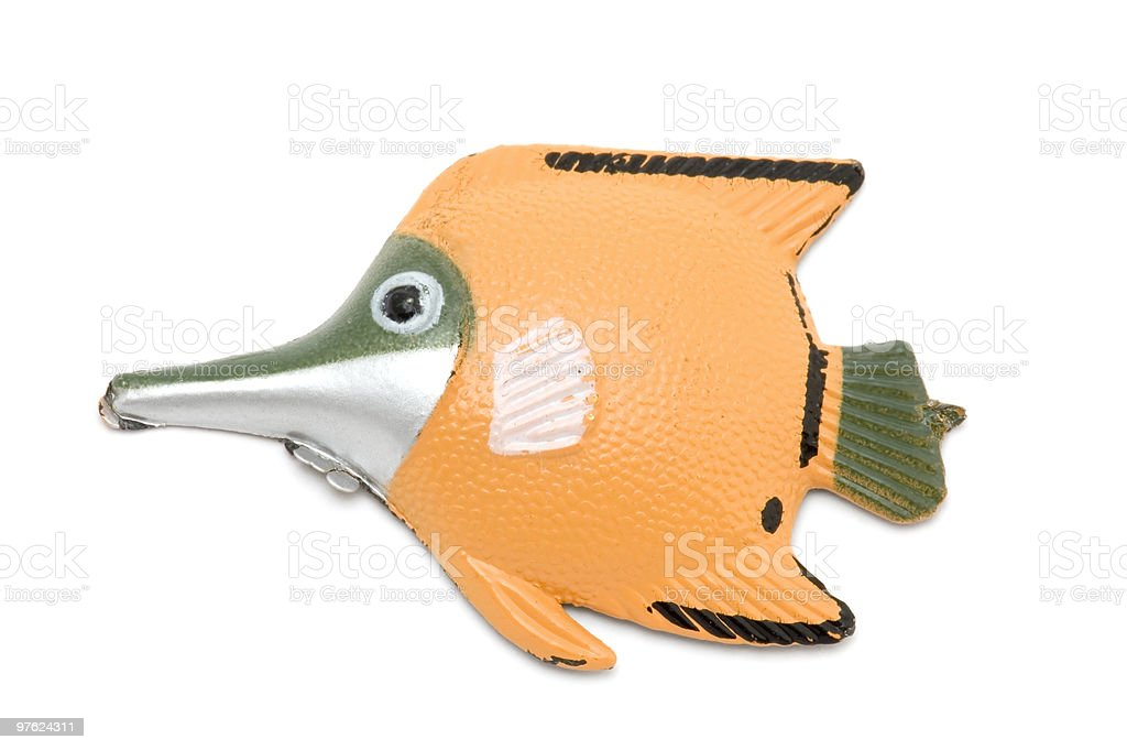 Fish magnet on white royalty-free stock photo