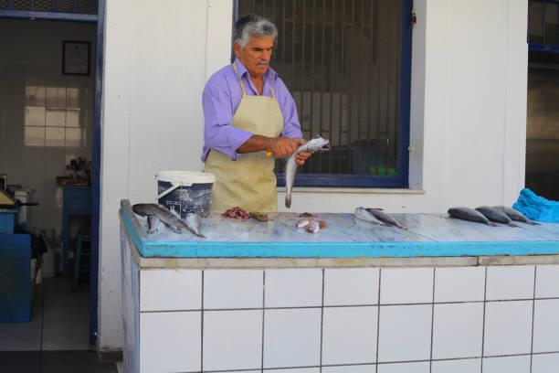 Fish market at Greek island – zdjęcie