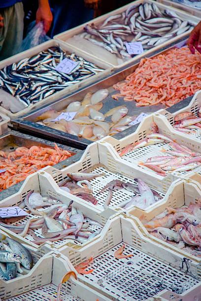 Fish market Catania, Sicily stock photo