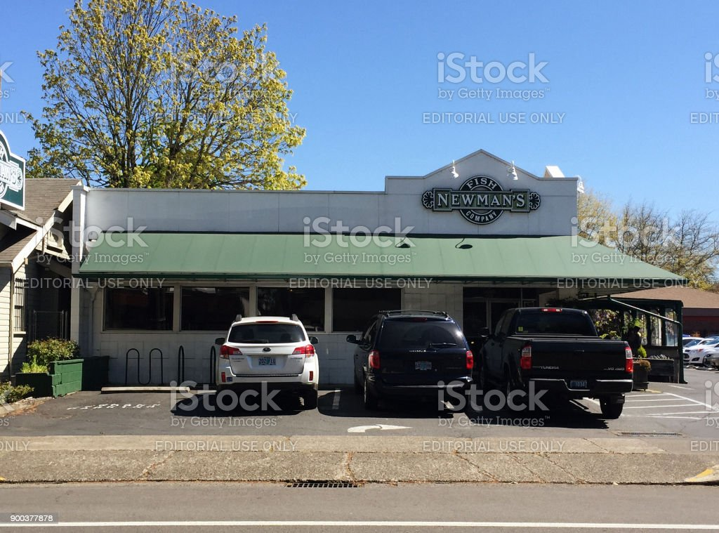Fish Market in Eugene stock photo