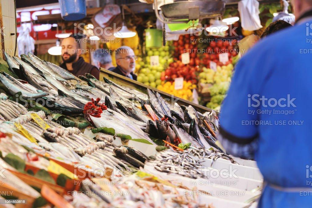 Fish Market in Kadikoy stock photo