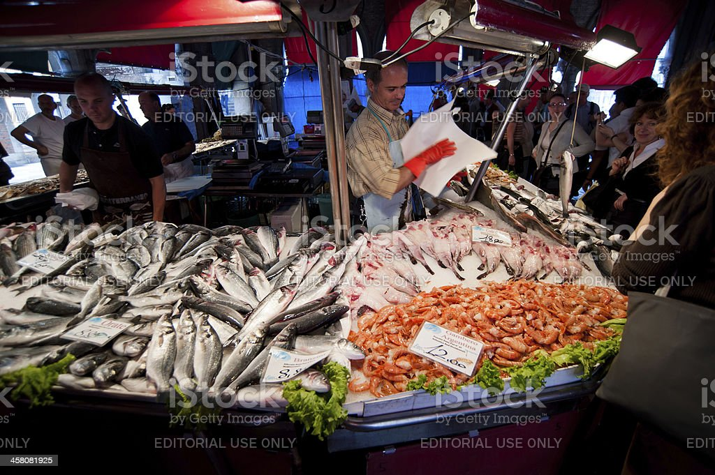Fish Market In Venice royalty-free stock photo