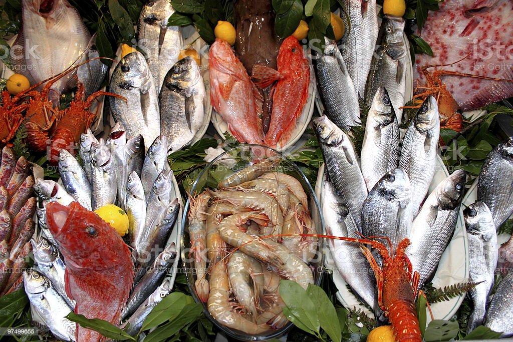 Fish Market Istanbul royalty-free stock photo