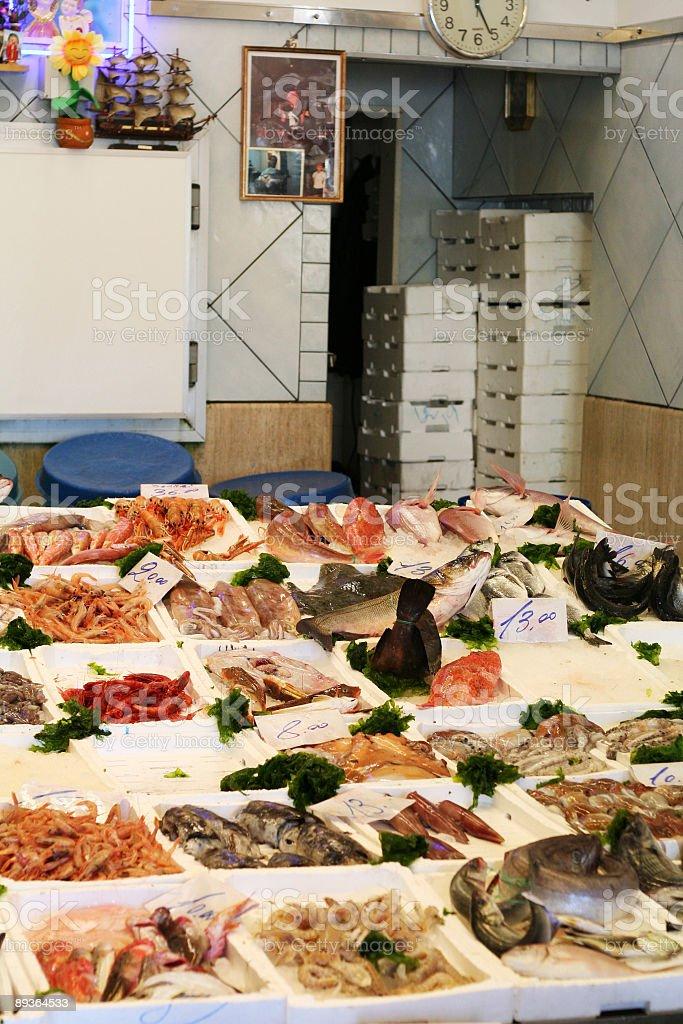 Fish market royaltyfri bildbanksbilder