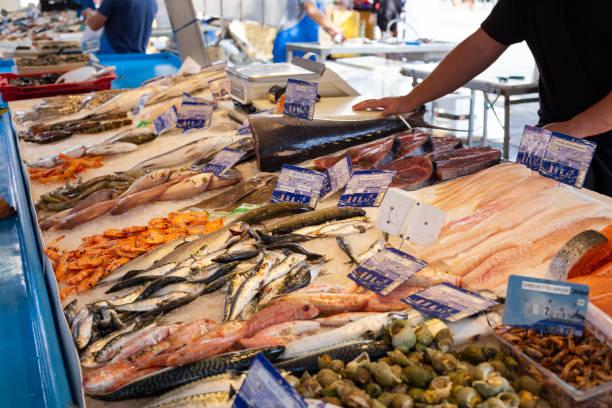 Fish Market, Sanary-sur-Mer, Provence stock photo