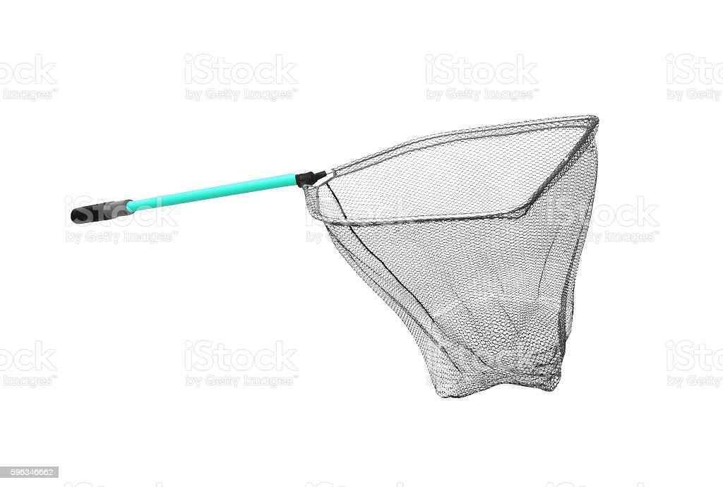 fish net. isolated on white royalty-free stock photo