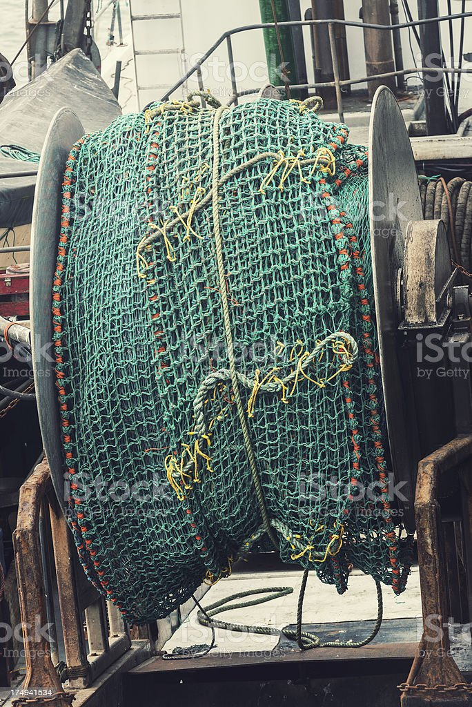 Fish Net Spool royalty-free stock photo