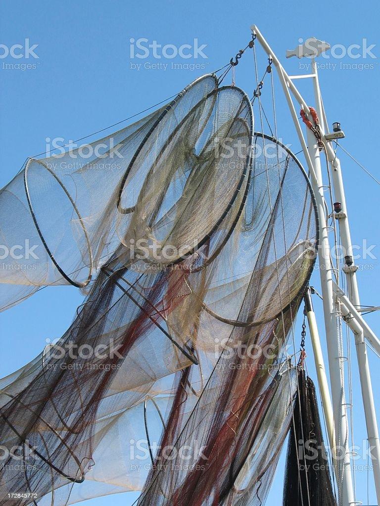 Fish netting stock photo
