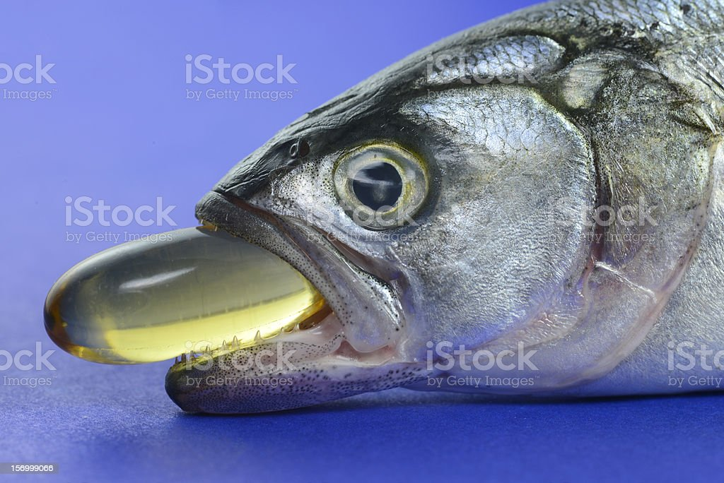 Fish Oil Capsule stock photo