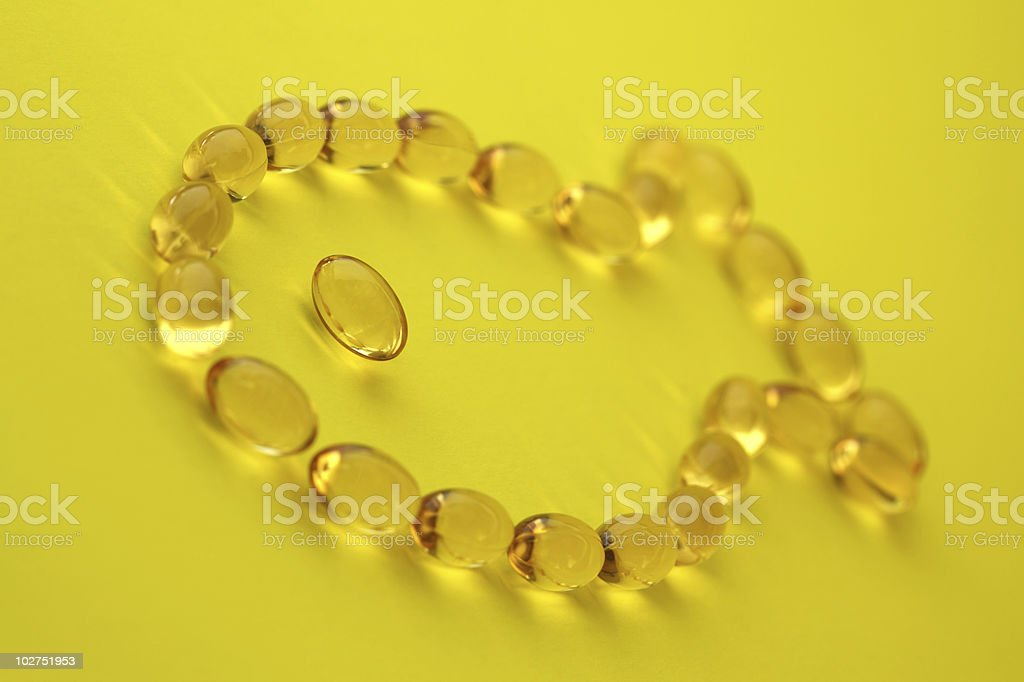 Fish oil capsules royalty-free stock photo