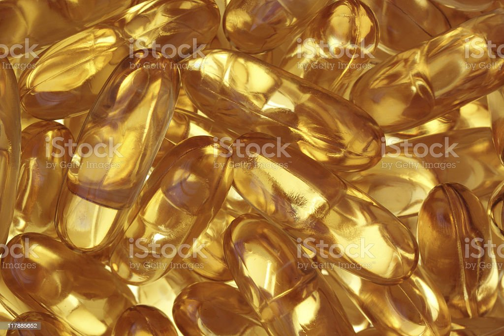 Fish oil tablets. royalty-free stock photo