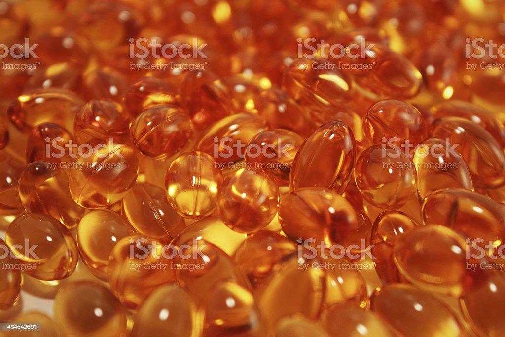 Fish oils Omega 3 capsules stock photo