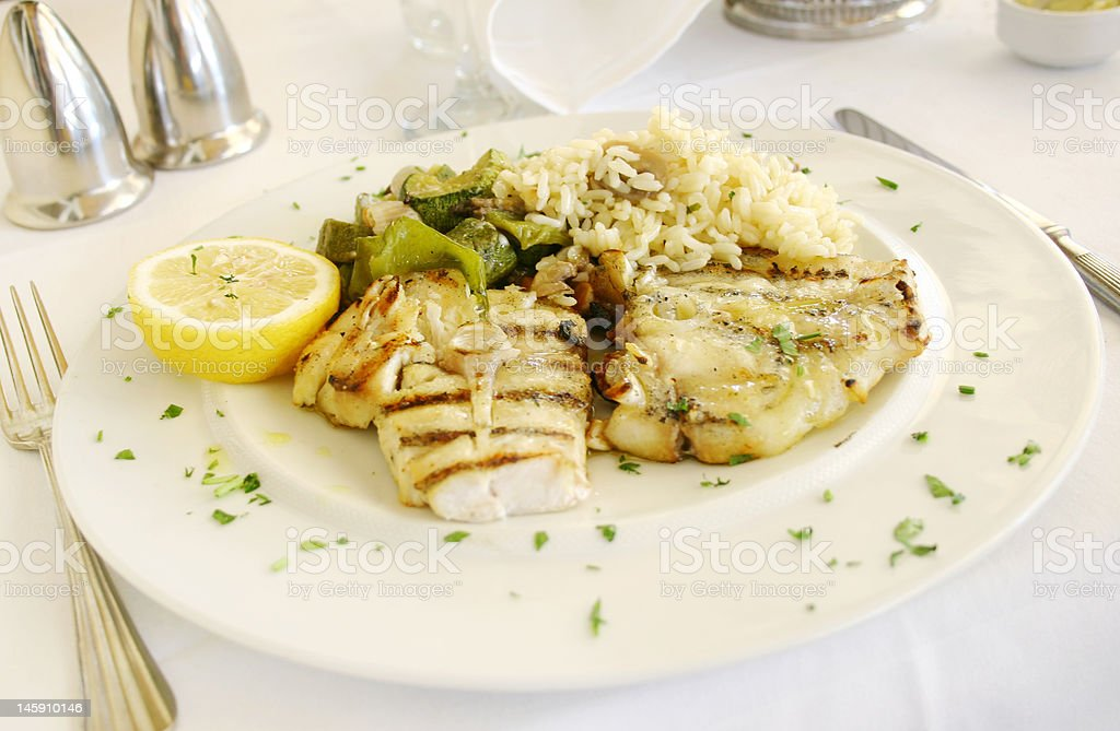 Fish on the table royalty-free stock photo