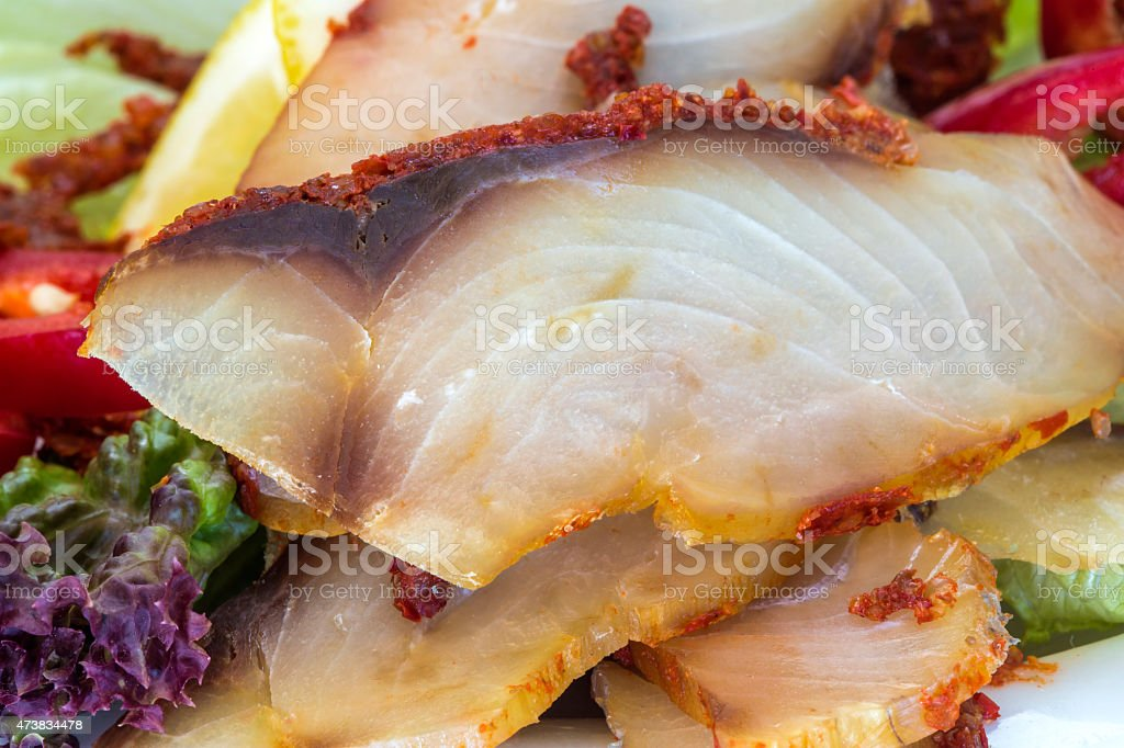 Fish Pastrami stock photo