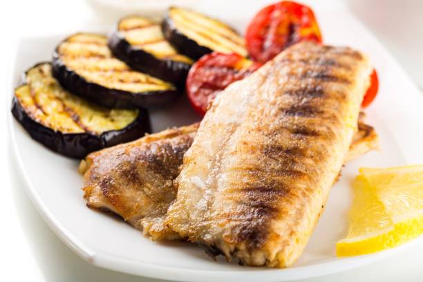 Fish. Fish grill grilled fillet dinner grouper perch perch fish stock pictures, royalty-free photos & images