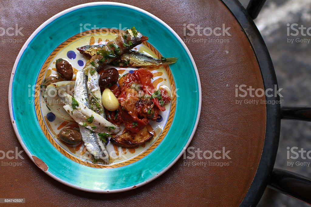fish plate stock photo