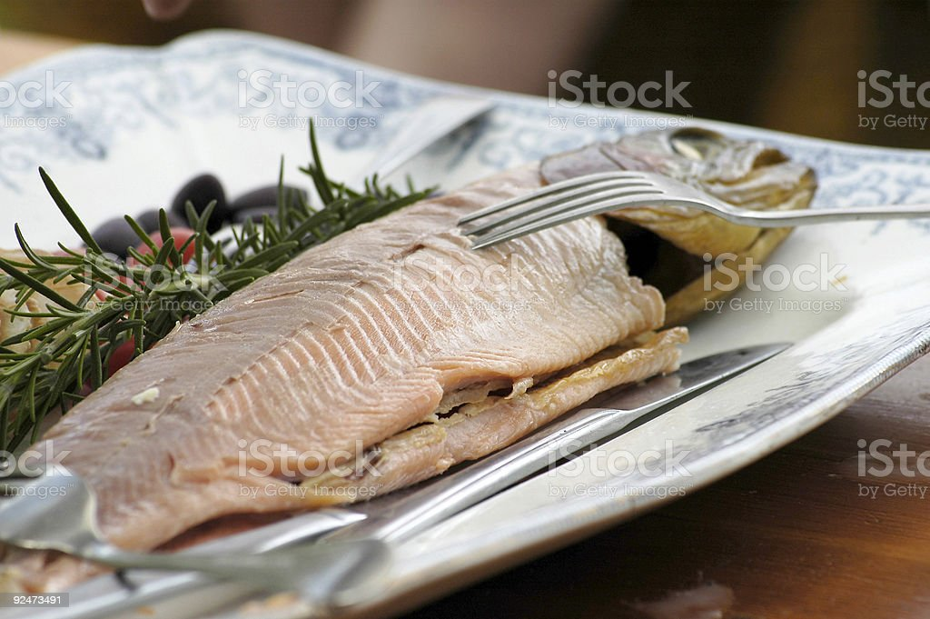 Fish platter royalty-free stock photo