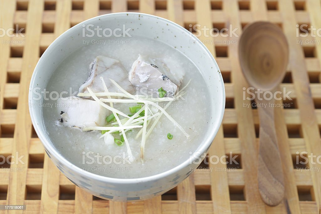 fish Porridge stock photo
