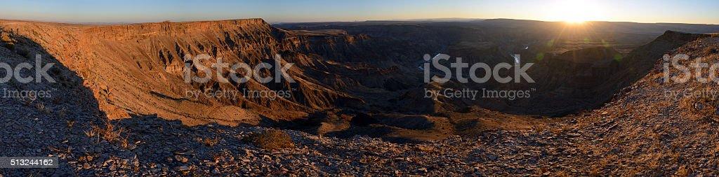 Fish River Canyon, Namibia stock photo