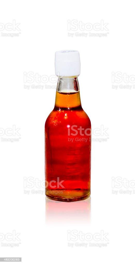 Fish sauce bottle stock photo